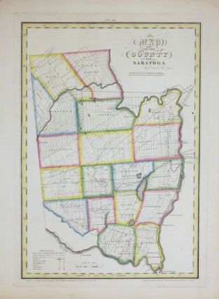 Map of the County of Saratoga. David H. BURR