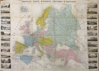 Nouvelle carte d'Europe physique & Routiere. John Baptiste Louis CHARLE.