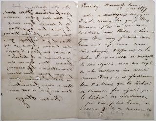 Autographed Letter Signed in French while in exile. Victor HUGO, 1802 - 1888