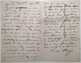Autographed Letter Signed in French while in exile