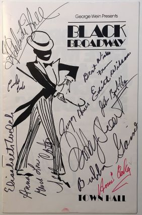 Program signed by ten actors. BLACK BROADWAY, THE PRODUCTION.