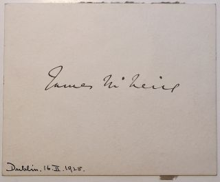 Signed Card. James McNEILL, 1869 - 1938