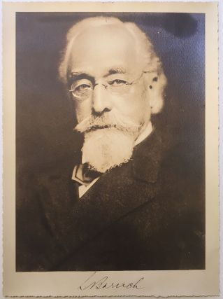 Scarce Signed Photograph. Simon BARUCH, 1840 - 1921.