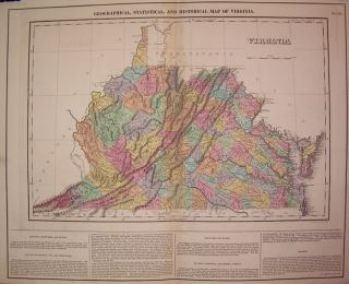 Geographical, Statistical, and Historical Map of Virginia. CAREY, LEA