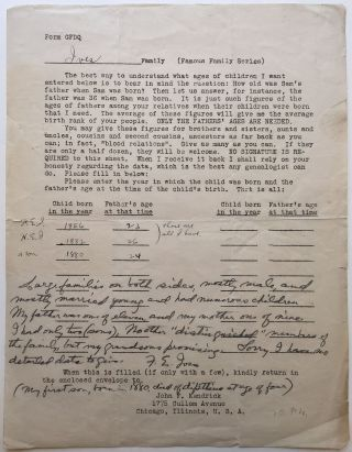 "Rare partly-printed Document Signed ""F.E. Ives"" Frederic Eugene IVES, 1856 - 1937"
