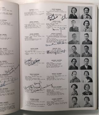 "THE LOG: JUNE 1935 -- signed yearbook from James Madison High School. Martin ""Marty"" GLICKMAN,..."