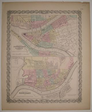 The Cities of Pittsburgh and Allegheny with parts of Adjacent Boroughs, Pennsylvania The City of...