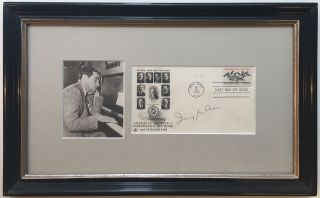 Framed Signed Envelope commemorating ASCAP. Irving BERLIN, 1888 - 1989