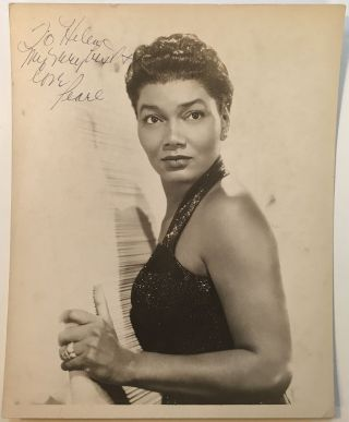 Inscribed Photograph. Pearl BAILEY, 1918 - 1990.