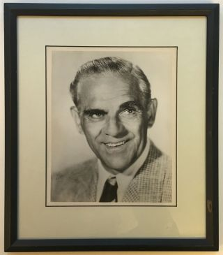 Framed Signed Photograph. Boris KARLOFF, 1887 - 1969.