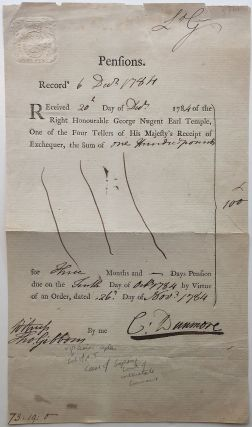 Partially Printed Document Signed. Thomas GIBBONS, 1757 - 1826