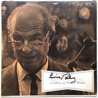 Signed Record Album. Linus PAULING, 1901 - 1994
