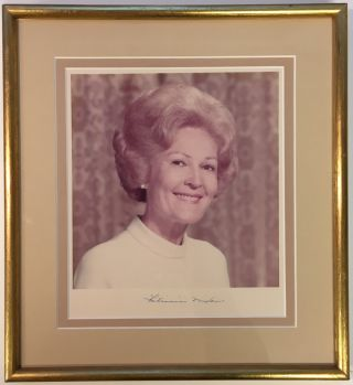 Framed Signed Photograph. Pat NIXON, 1912 - 1993