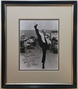 Framed Inscribed Photograph. Ray BOLGER, 1904 - 1987.