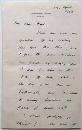 "Autographed Letter Signed ""S.B."" Stanley BALDWIN, 1867 - 1947"