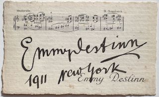 Signed Calling Card. Emmy DESTINN, 1878 - 1930