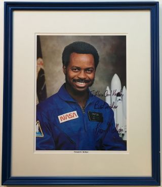 Framed Inscribed Photograph. Ron MCNAIR, 1950 - 1986.