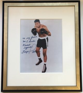 Framed Inscribed Photograph. Floyd PATTERSON, 1935 - 2006.