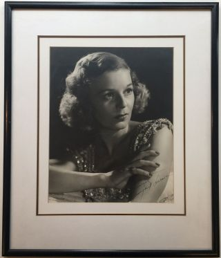 Framed Inscribed Photograph. Margaret SULLAVAN, 1909 - 1960