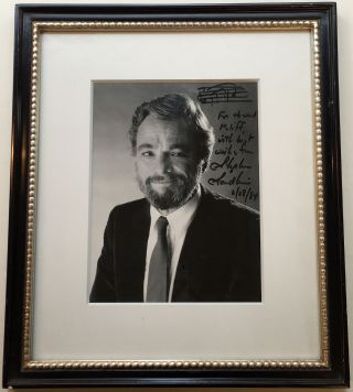 Framed Inscribed Photograph with an Autographed Musical Quotation. Stephen SONDHEIM, 1930
