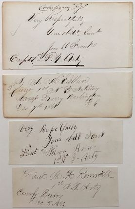 Grouping of four signatures with rank and command. CIVIL WAR.