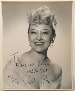 Inscribed Vintage Photograph. Sally RAND, 1903 - 1979.