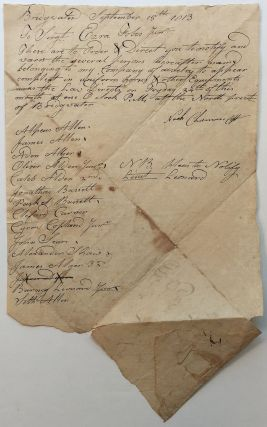 War-Date Document Signed. WAR OF 1812