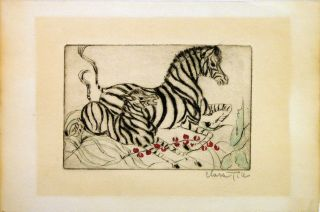 Untitled - Zebra mother and baby. Clara TICE