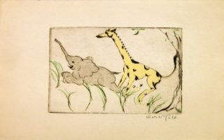 Untitled - Elephant and Giraffe. Clara TICE