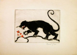 Untitled - Jaguar and cub. Clara TICE.