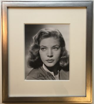 Framed Signed Photograph. Lauren BACALL, 1924 - 2014.