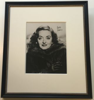 Framed Signed Photograph. Bette DAVIS, 1908 - 1989