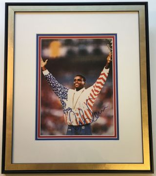Framed Signed Photograph. Carl LEWIS, 1961