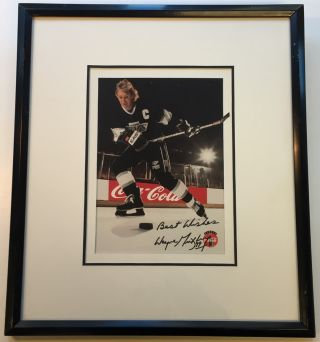 Framed Inscribed Photograph. Wayne GRETZKY, 1961 -.