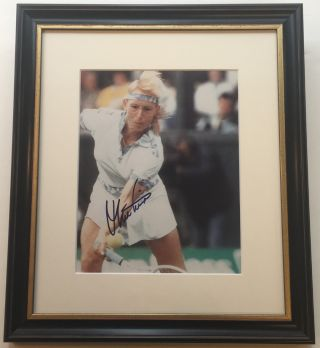 Framed Signed Photograph. Martina NAVRATILOVA, 1956
