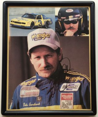 Framed Signed Photograph. Dale EARNHARDT, 1951 - 2001.