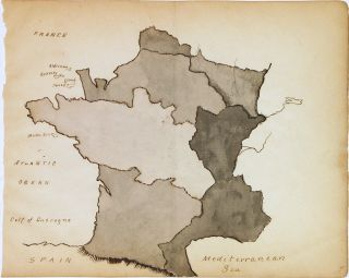France. ANONYMOUS, Manuscript map