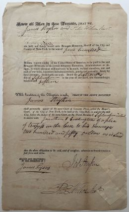 Partly Printed Autographed Document Signed. FLORIDA HISTORY, - Ruggles Hubbard