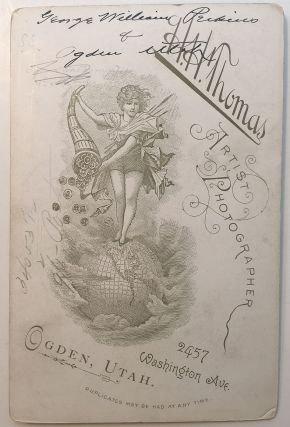 Rare Signed Cabinet Card While in Utah