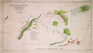 Battle of El Molino del Rey; Sketch of the Operations of the 1st Division United States Army under the command of General Worth on the 8th Sept. 1847. Edward Lafayette HARDCASTLE.