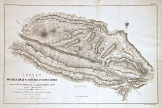 Survey of the Mexican Lines of Defence at Cerro Gordo and the Lines of Attack of the American...