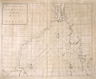 A Chart of the Coast of Cormandel and the Great Bay of Bengal. Nathaniel CUTLER, Sir Edmond...