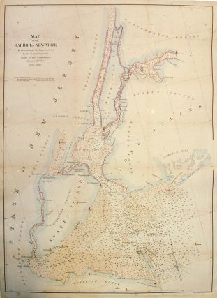 Map of the Harbor of New York. Julius BIEN