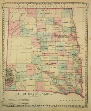 Territory of Dakota. Samuel Augustus Jr MITCHELL