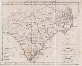 Map of North and South Carolina. Jedidiah MORSE.