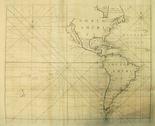 [A Correct Sea Chart of the Whole World, According to Wright's, Commonly Called Mercator's, Projection]. Nathaniel CUTLER, Sir Edmond HALLEY, John HARRIS, John SENEX, Daniel DEFOE.