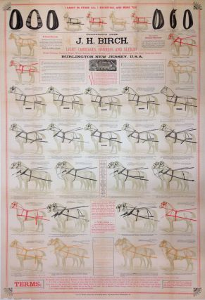 J. H. Birch. Light Carriages, Harness and Sleighs. CARRIAGE MONTHLY ENGRAVING, PRINTING HOUSE