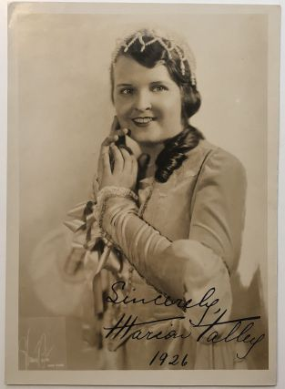 Signed Photograph. Marion TALLY, 1906 - 1983
