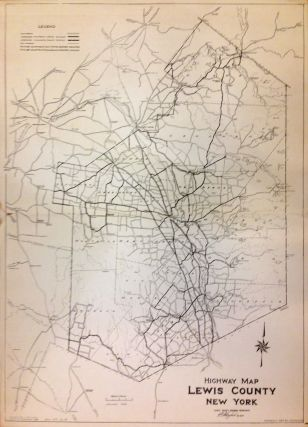 Highway Map Lewis County New York. L. P. M. GAYLORD.