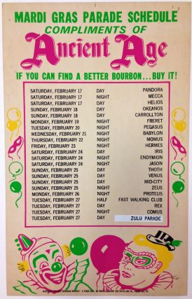 Mardi Gras Parade Schedule. ANCIENT AGE DISTILLING CO.